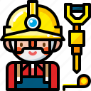 builder, construction, contractor, labor, man, worker, workman icon