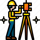 construction, engineer, engineering, measurement, site, survey, work icon