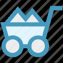 barrow, cart, garden trolley, hand cart, hand truck, trolley icon