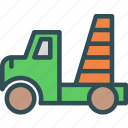 building, car, machine, site, transport, truck icon