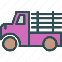 building, car, finish, machine, transport, truck, wood