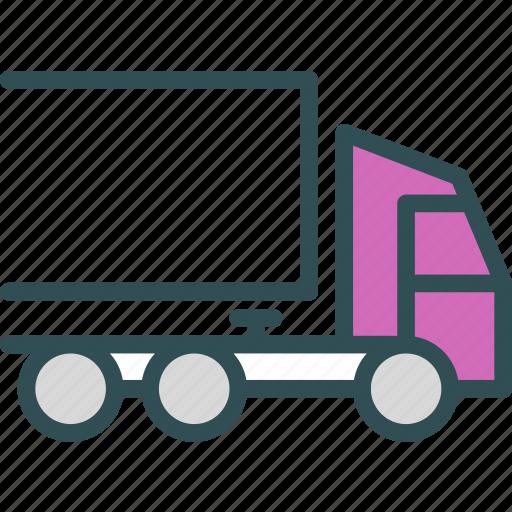 large, transportation, truck icon