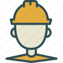 contruction, man, worker icon