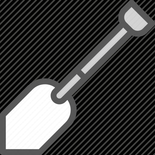 manual, spade, tool, work icon