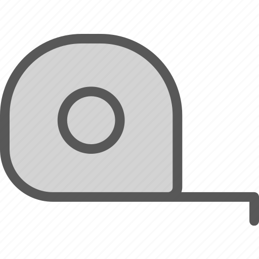 dimensions, measure, size, tape icon