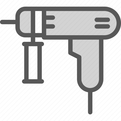 drill, sold, tool icon