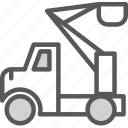 heavy, machine, materials, peoplelift, site, transport, truck