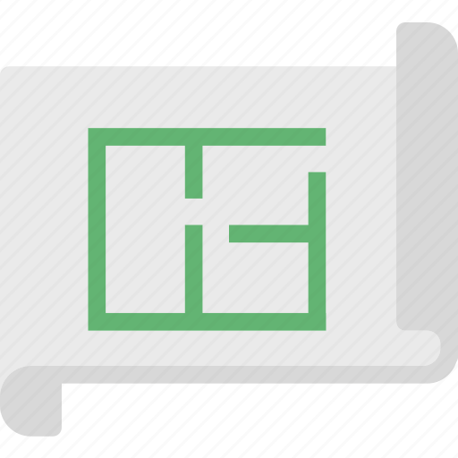 measure, plan, project icon