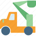 heavy, machine, materials, peoplelift, site, transport, truck icon