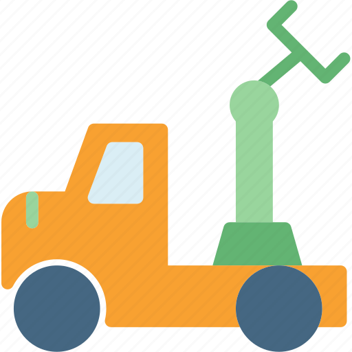 building, car, machine, pull, site, transport, truck icon