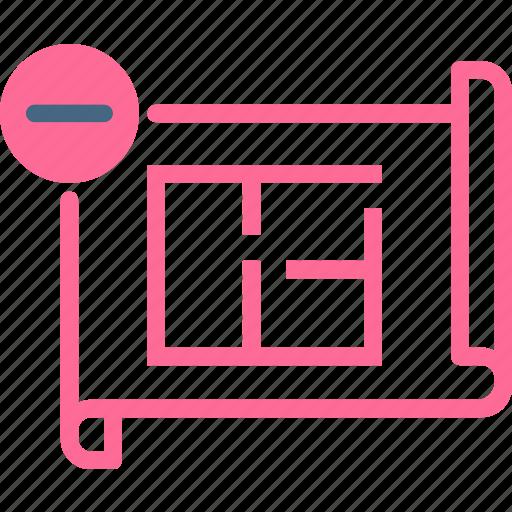 measure, plan, projectremove icon