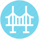 arch, architecture, bridge, construction, gate, landmark icon