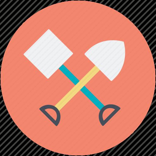 digging, farming, gardening tools, shovel, spade icon