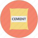 cement bag, construction material, masonry, paper sack, warehouse icon