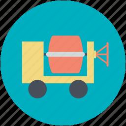 concrete buggy, concrete mixer, concrete vehicle, construction vehicle, transport icon