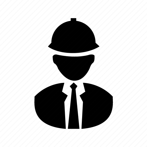 contractor, engineer, helmet, man, worker icon
