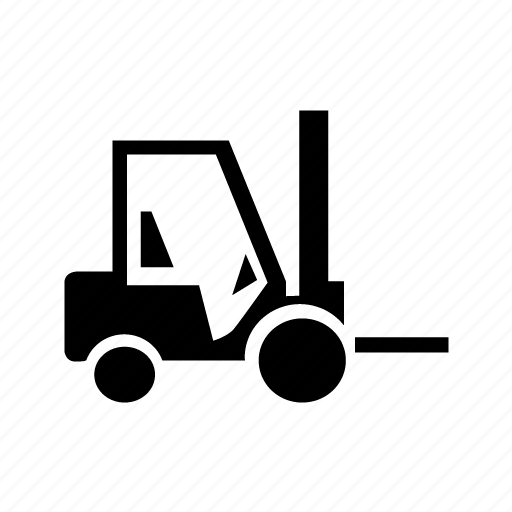 carriage, cart, fork, lift icon