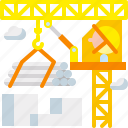 building, construction, crane, industry, machinery, structure, tower icon