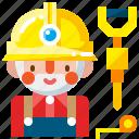 builder, construction, contractor, labor, man, worker, workman