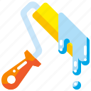 brush, color, paint, paintbrush, painter, roller, tool icon