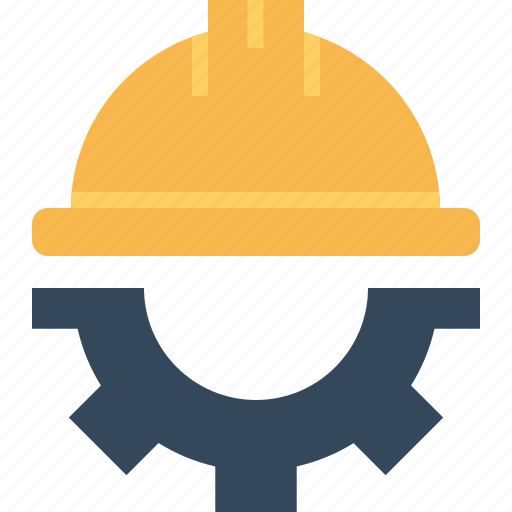 Civil Engineer Helmet Protection Safety Setting Icon