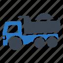 building, construction, dumper, truck, vehicle icon