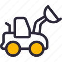 construction, digger, excavator, machinery icon