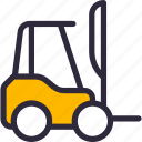 construction, forklift, lifter, vehicle