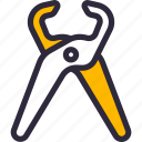 construction, pliers, tongs, tool icon