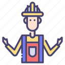 building, construction, industry, worker icon