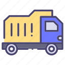building, construction, dump truck, industry icon