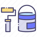 building, construction, industry, roller paint icon