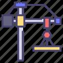 building, construction, crane, industry icon