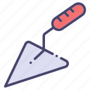 building, construction, industry, trowel icon