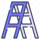 building, construction, industry, ladder icon