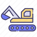 building, catterpillar, construction, industry icon