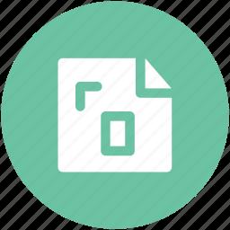 document, extension, file, instruction, measurement paper icon