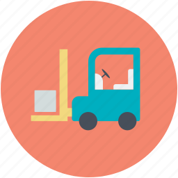 bendi truck, counterbalanced truck, fork truck, forklift truck, pallet jack icon