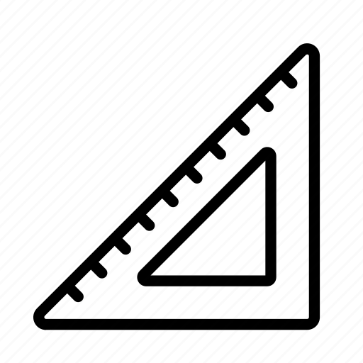 construction, design, ruler, triangle, triangle ruler icon