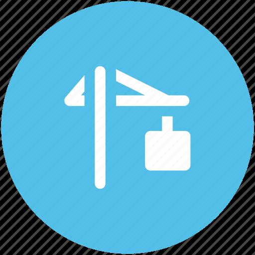 construction, crane hook, lift machine, lifter, lifter hook, lifting icon