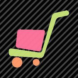 buggy, cart, concrete, construction, work icon