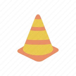 cone, construction, emergency, road, traffic, under construction icon