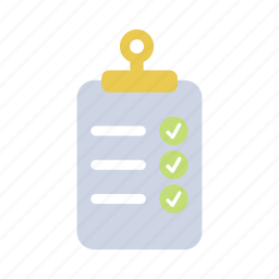 checklist, construction, data, document, list, project, target icon