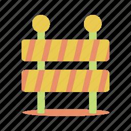 barricade, construction, stop, traffic, under, work, worker icon