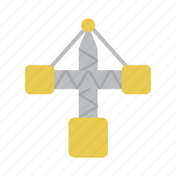 building, construction, crane, machine, pole, tower, work icon