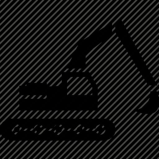 building, construction, excavator, vehicle, work icon