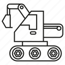 construction, digger, equipment, excavator, mine, vehicle icon