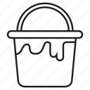 bucket, color, paint, water icon