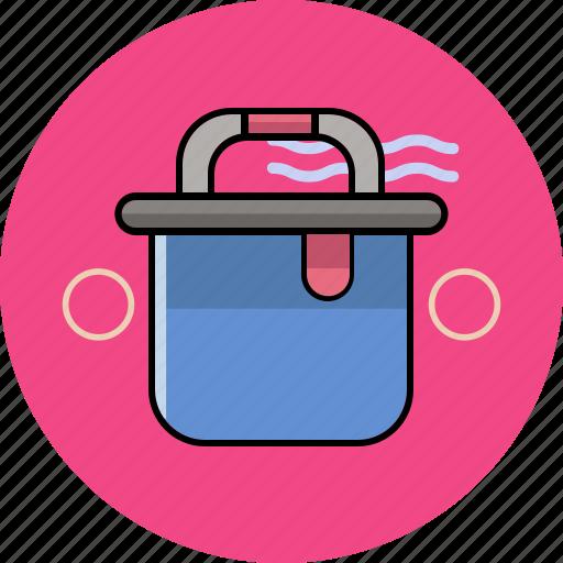 bucket, circle, drop, equipment, water, work icon
