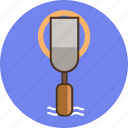 chisel, circle, construction tool icon